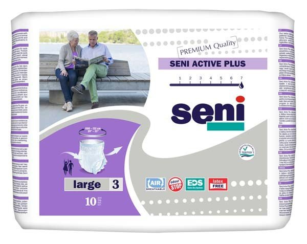 SENI Active Plus Inkontinenzslip Einm.large 8X10St