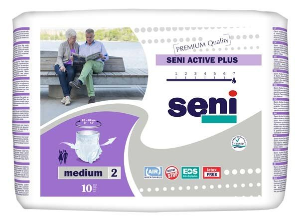 SENI Active Plus Inkontinenzslip Einm.medium 8X10St